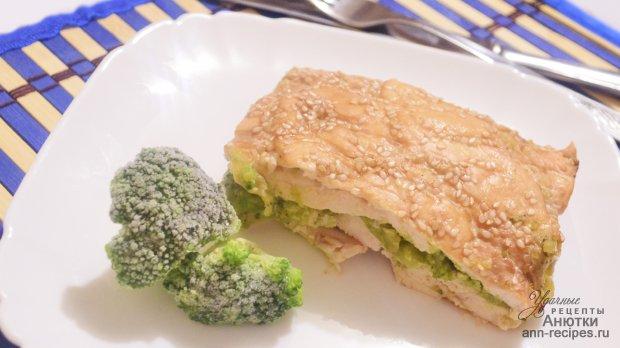 Куриное филе, с брокколи